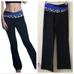 Lululemon Astro Black Yoga Pants Flare Leggings 4